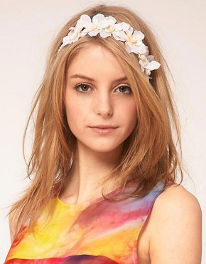 Image 1 ofASOS Orchid Flower Headband