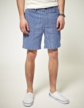 Image 1 ofPeople Tree Luke Stripe Shorts