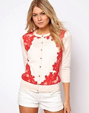 Ted Baker Ettia Cardigan with Lace Panel