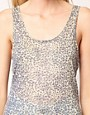 Image 3 of Just Female Jersey Sheer Snake Print Tank