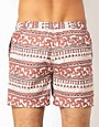 Image 2 ofASOS Swim Shorts With Aztec Print