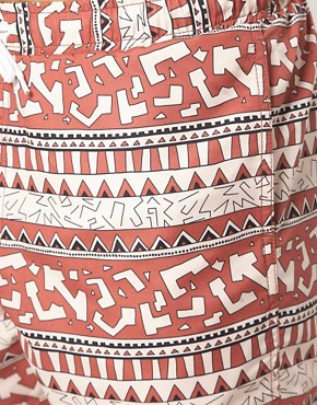 Image 3 ofASOS Swim Shorts With Aztec Print