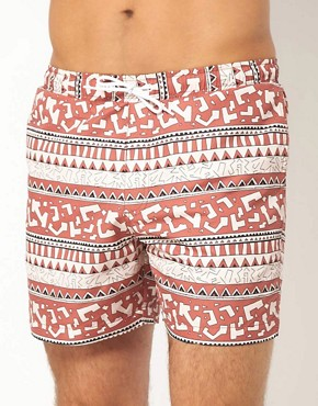 Image 1 ofASOS Swim Shorts With Aztec Print