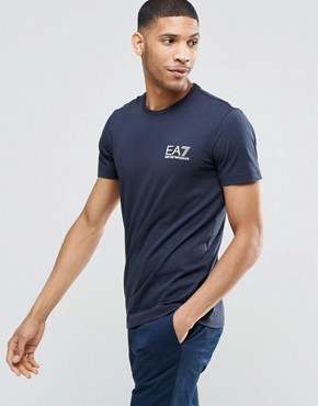 EA7 T-Shirt with Chest Logo