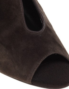 Image 3 ofDiavolina Remy Suede Peep Toe Shoe Boot