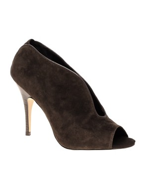 Image 1 ofDiavolina Remy Suede Peep Toe Shoe Boot