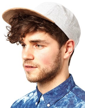 Image 3 ofASOS 5 Panel Cap with Contrast Peak