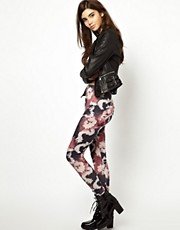 ASOS Leggings in Black and Pink Tie Dye