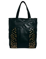 Pieces Geba Black Shopper Bag