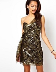 Religion One Shoulder Party Dress
