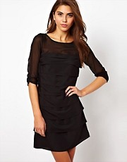 Coast Claudina Shift Dress with Tiering Detail