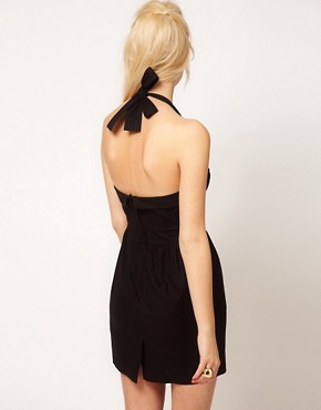Image 2 ofASOS Summer Dress With Halter Neck In 50&#39;s Shape