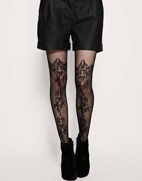 Image 1 ofASOS Pattern Sheer Tights