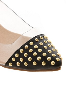 Image 4 ofASOS LEAD Studded Pointed Ballet Flats