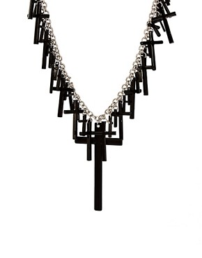 Image 1 ofASOS Multi Cross Statement Necklace