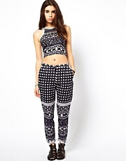 ASOS Africa Trousers in Kenga Print