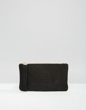 Oasis Leather Snake Effect Purse