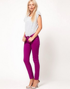 Image 4 ofASOS PETITE Exclusive Skinny Jeans In Wild Astor