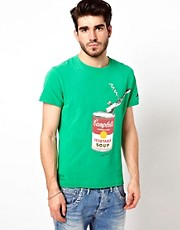 Pepe Jeans Andy Warhol T-Shirt Campbells Soup Print