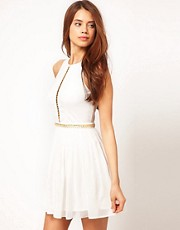 ASOS Skater Dress with Chain Trim