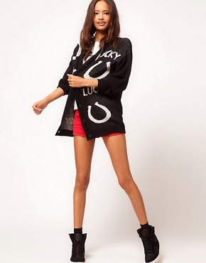Image 4 ofASOS Lucky Horseshoe Cardigan