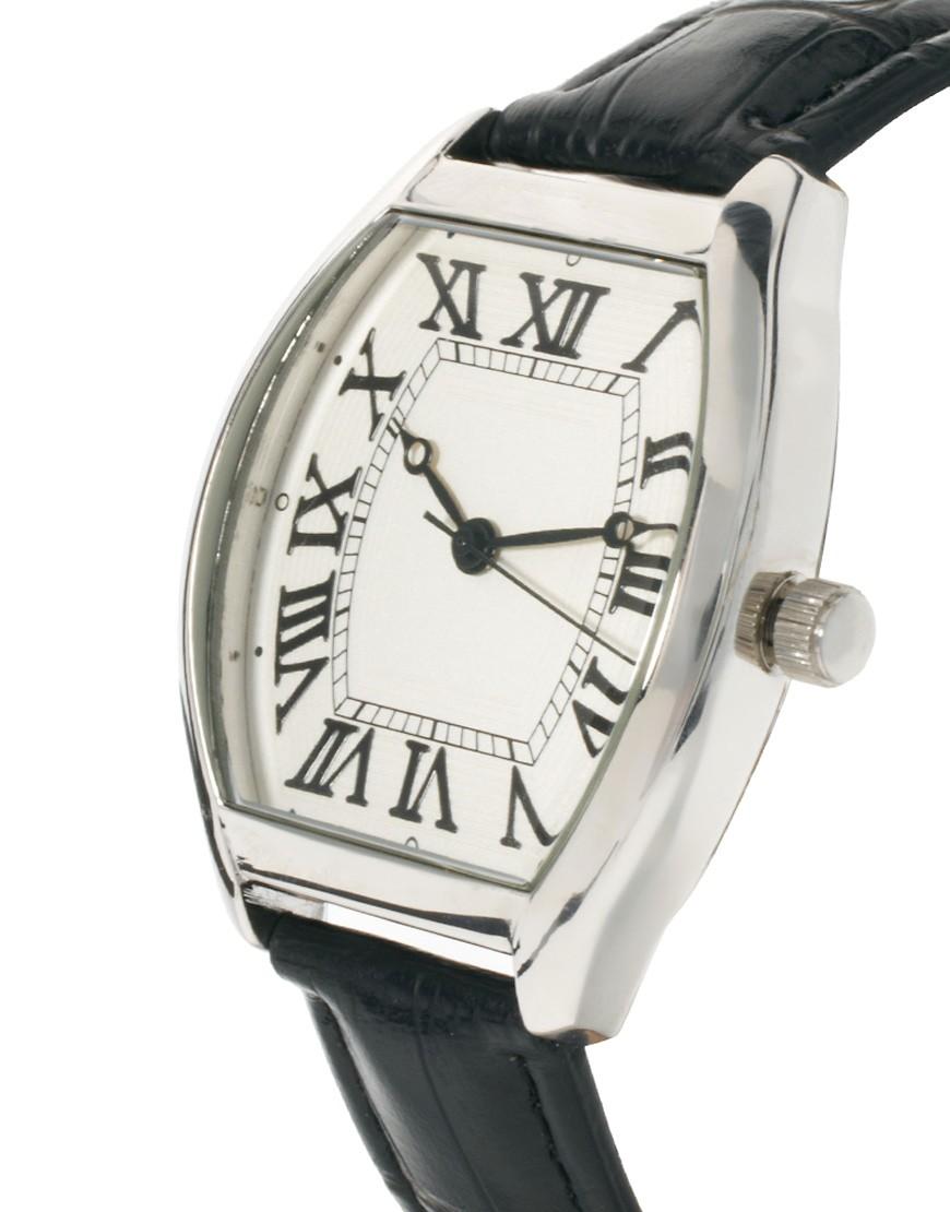 Image 3 ofASOS Vintage Style Croc Watch