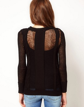 Image 2 ofShae Cable Knit Jumper with Slip