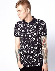 ASOS Polo With Baseball Print