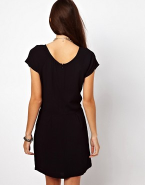 Image 2 ofBy Zoe Short Sleeved Shift Dress with Pleated Front