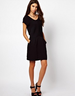 Image 4 ofBy Zoe Short Sleeved Shift Dress with Pleated Front