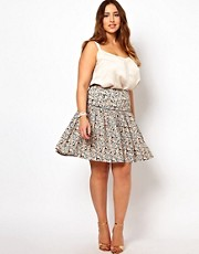 New Look Inspire Floral Print Skirt