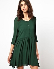 BA&SH Double Layered Shirt Dress in Crepe
