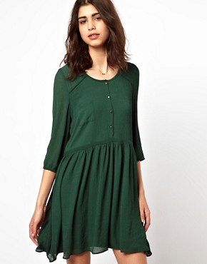 Image 1 ofBA&amp;SH Double Layered Shirt Dress in Crepe
