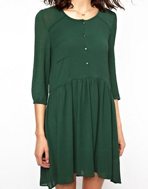 Image 3 ofBA&amp;SH Double Layered Shirt Dress in Crepe