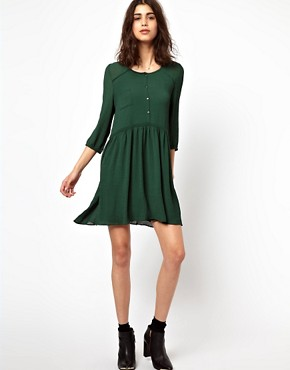 Image 4 ofBA&amp;SH Double Layered Shirt Dress in Crepe