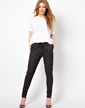 Image 1 ofBy Zoe Melange Sweat Pant with Tie Waist
