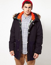 Solid Parka Jacket