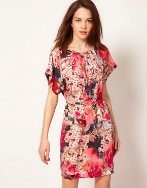 Image 1 ofTed Baker Digital Floral Dress