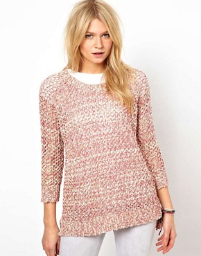 Oasis Mesh Sweater at ASOS :  pink sweater winter