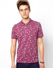 ASOS Polo With Lightening Print