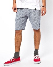KR3W Chino Shorts Cut Off Printed