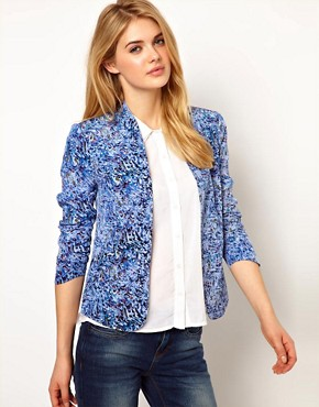 Image 1 ofDenham Printed Clean Blazer