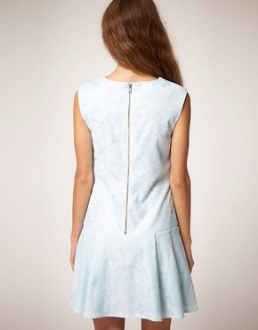 Image 2 ofASOS Sleeveless Shift Dress in Jacquard
