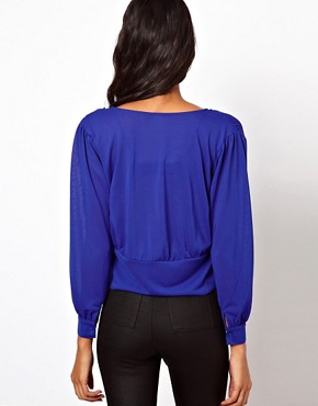 Image 2 ofASOS Blouse with Cross Over Detail