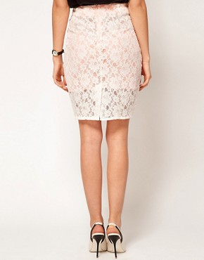 Image 2 ofASOS Pencil Skirt in Lace