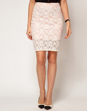 Image 4 ofASOS Pencil Skirt in Lace
