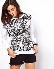 A Question Of  Sweatshirt mit Leopardenmotiv