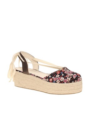 Image 1 ofASOS VOODOO Flatform Espadrilles With Cross Ties