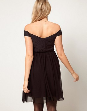 Image 2 ofASOS Maternity Lace &amp; Mesh Skater Dress