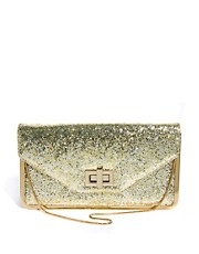 Oasis &ndash; Clutch mit Glitzerstruktur